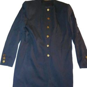 Doncaster Wool Jacket Buttons Coat Blazer Black 8